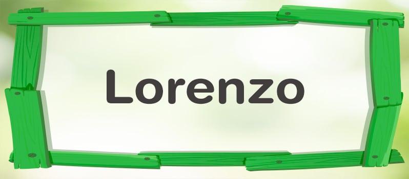 Nombre Lorenzo significado