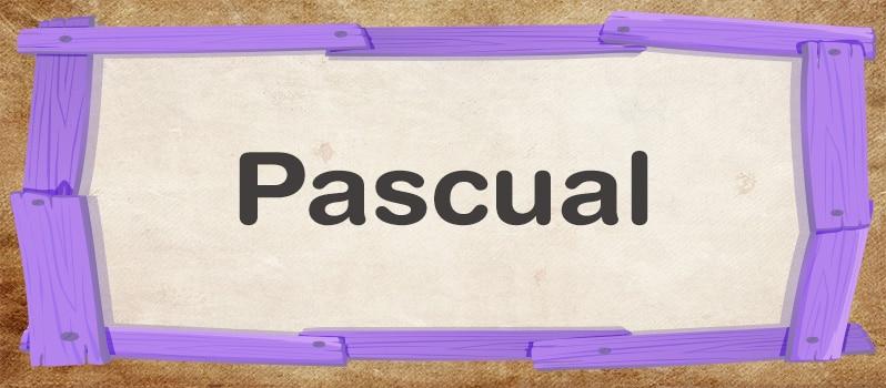 Pascual significado
