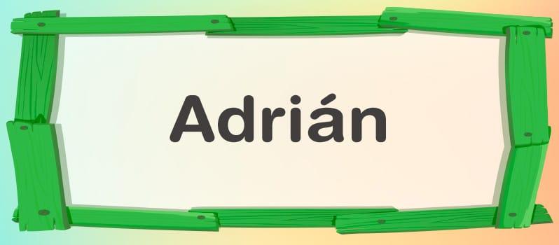 Qué significa Adrián
