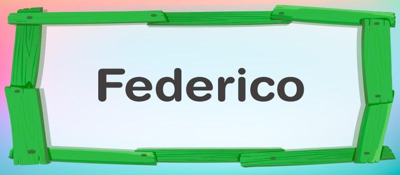 Qué significa Federico