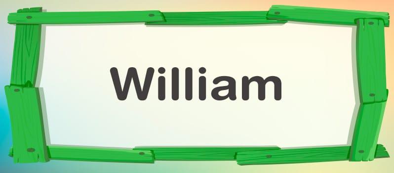 Qué significa William