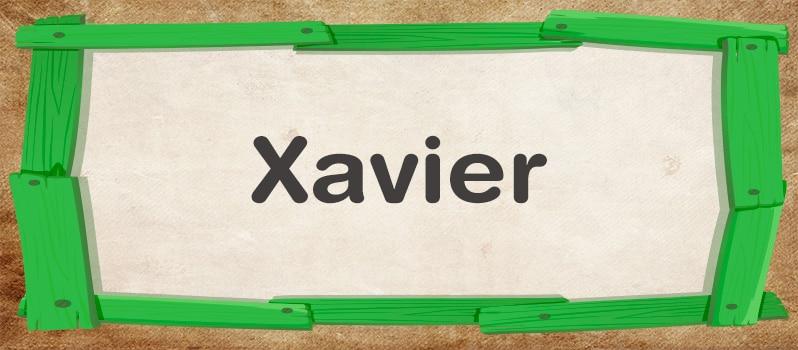 Qué significa Xavier