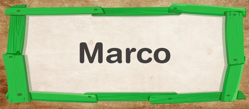 Significado del nombre Marco