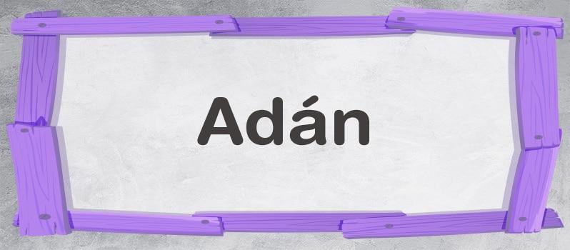 Adán significado
