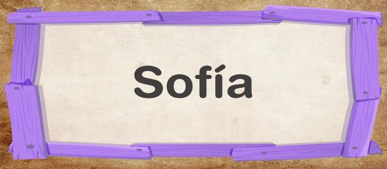 Cuál es el significado de Sofía