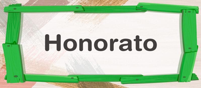 Honorato significado