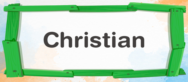 Nombre Christian significado