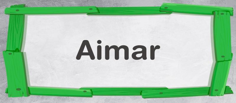 Qué significa Aimar