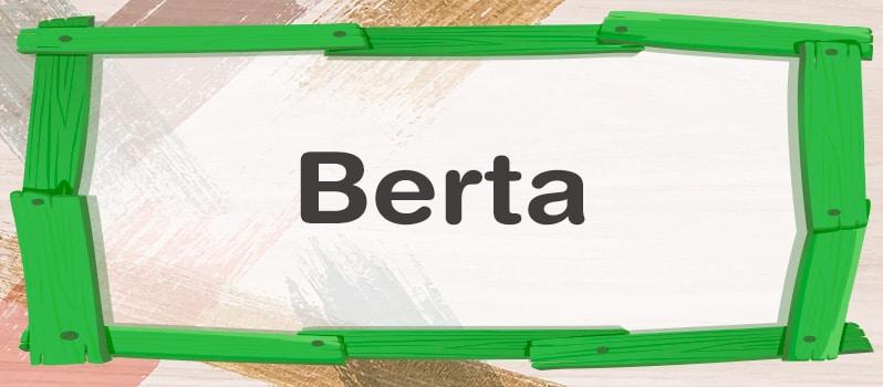 Qué significa Berta