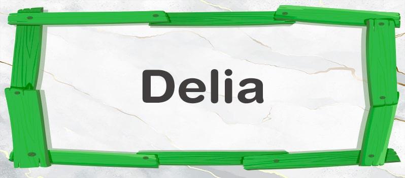 Significado de Delia