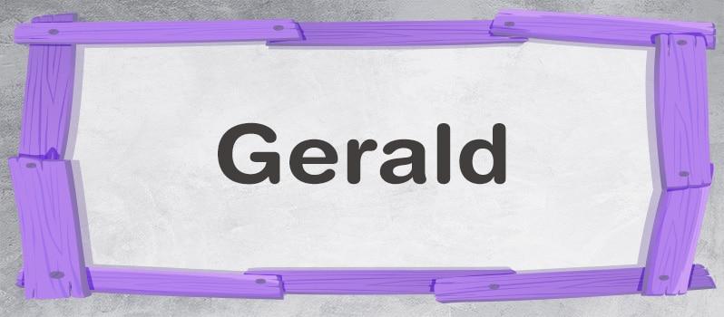 Significado del nombre Gerard