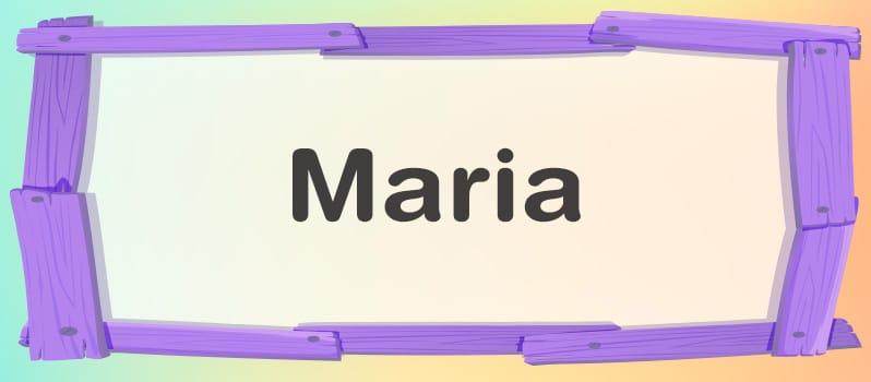 Significado del nombre Maria