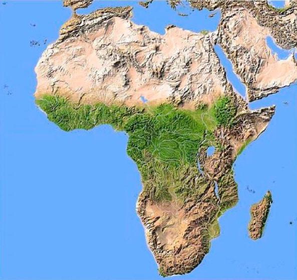 África mapa físico