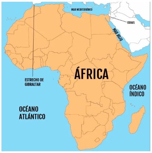 África mapa político