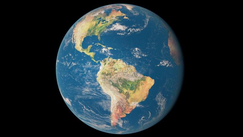 América desde el espacio