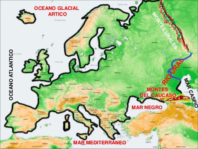 Europa mapa físico