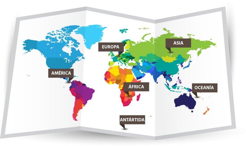 Los 6 Continentes Del Mundo