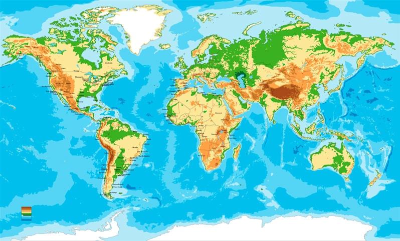 Los continentes del mundo