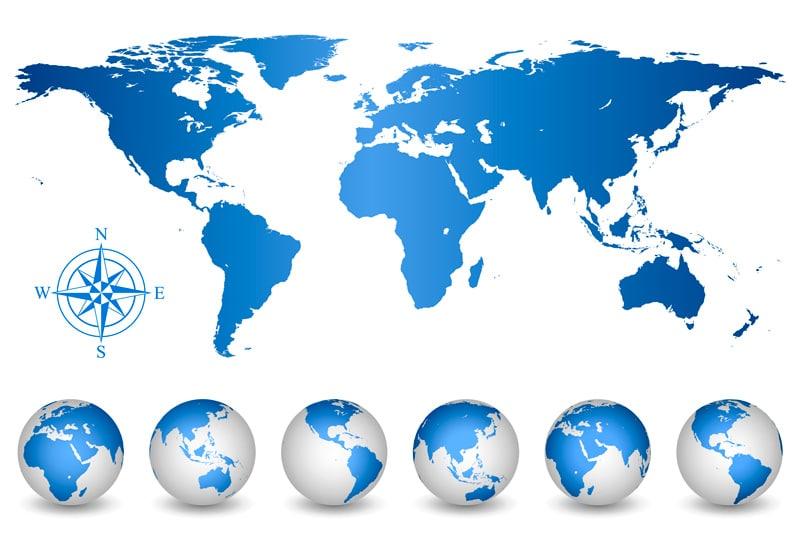 Los continentes para niños de primaria