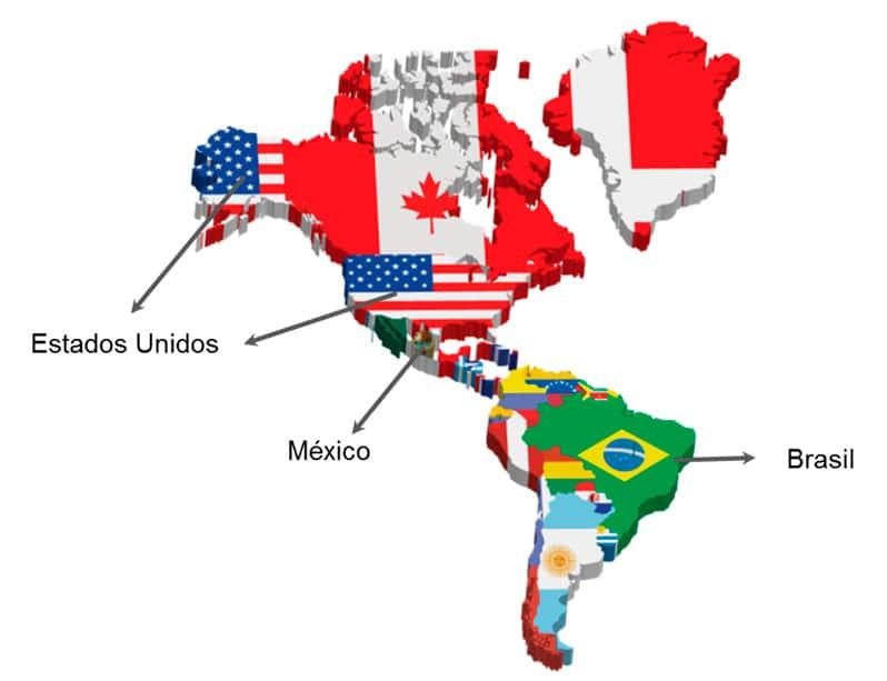 Países de América más poblados