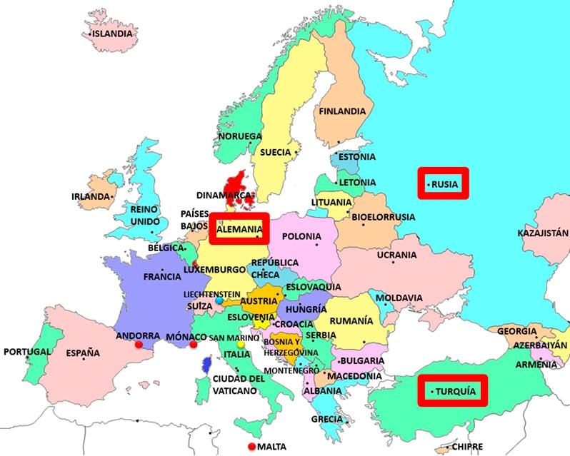Países más poblados de Europa