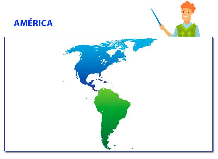 America Con Banderas Y Nombres De Paises