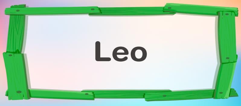 Cuál es el significado de Leo