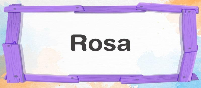 Cuál es el significado de Rosa