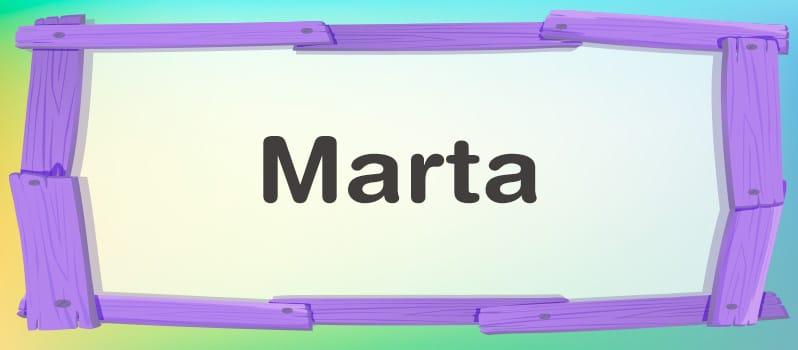Marta significado
