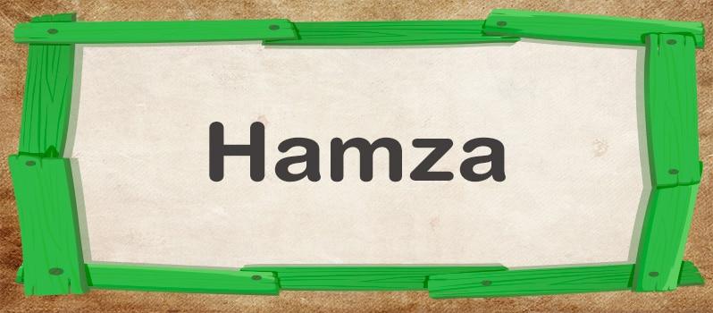 Qué significa Hamza