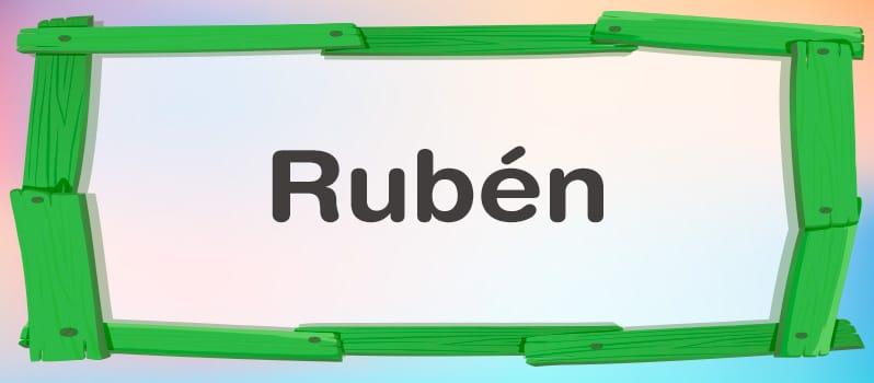 Qué significa Rubén
