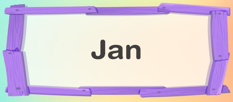 Significado de Jan