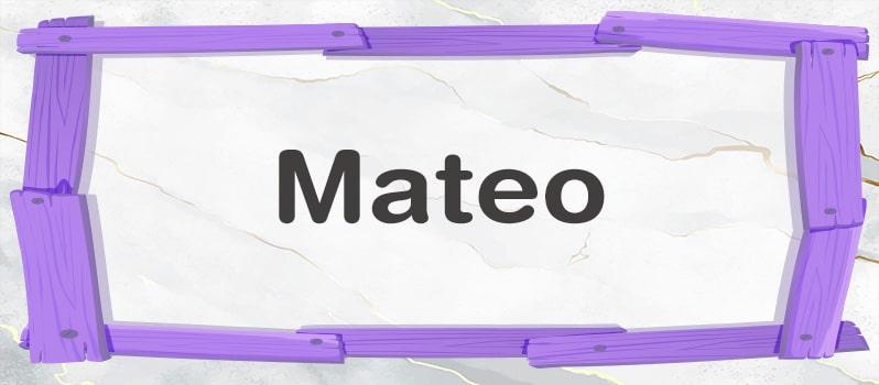 Significado de Mateo