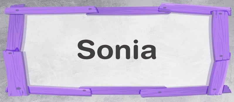 Significado del nombre Sonia